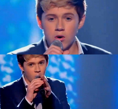 Cutie Niall hát His tim, trái tim Out :) x