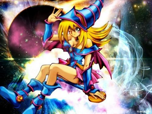 Yu-Gi-Oh 壁紙 with アニメ entitled Dark Magician Girl