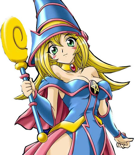 Yu-Gi-Oh wallpaper possibly containing anime titled Dark Magician Girl