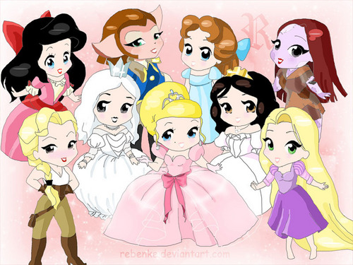 Disney Leading Ladies - chibi