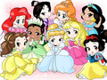 Disney Princess - chibi - disney-leading-ladies fan art