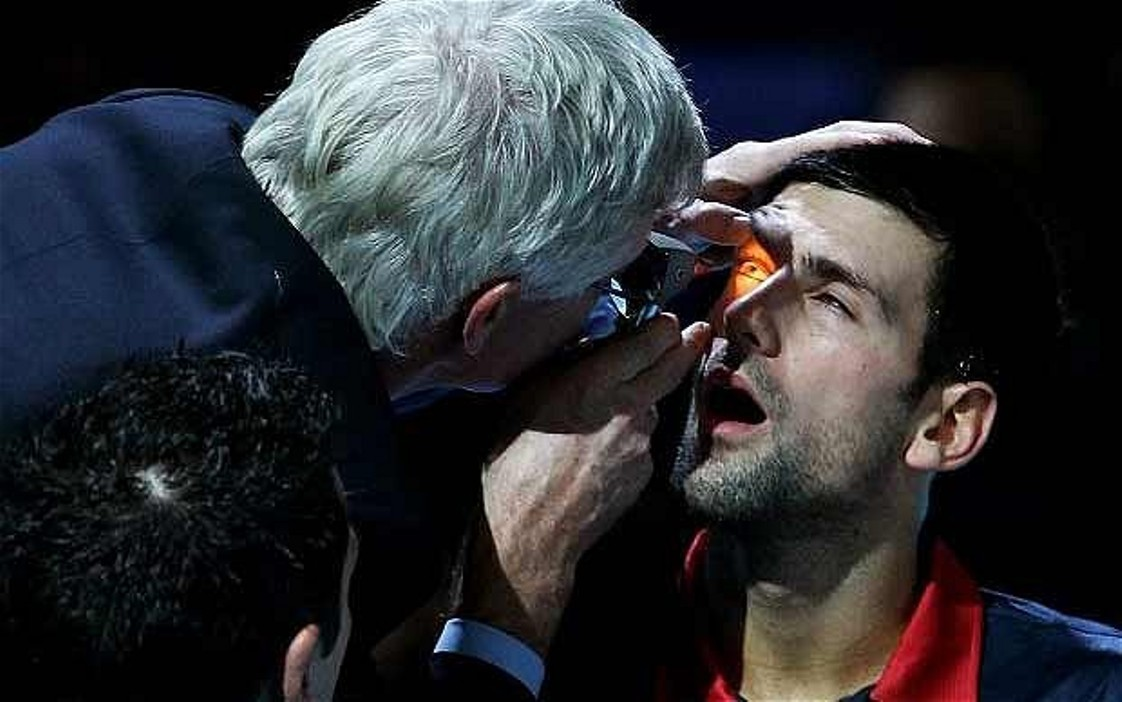 Djokovic eye