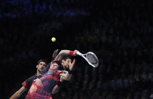 Djokovic saw a blur!