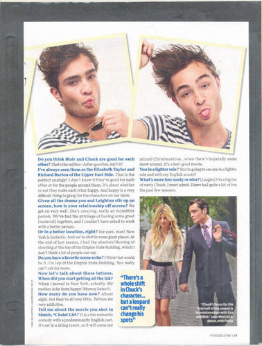 Ed Westwick in TV Guide october