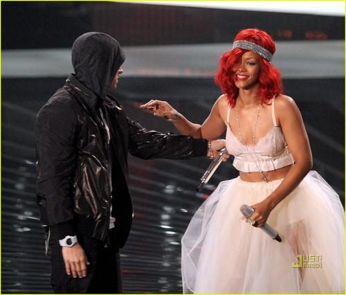 Eminem and Rihanna...