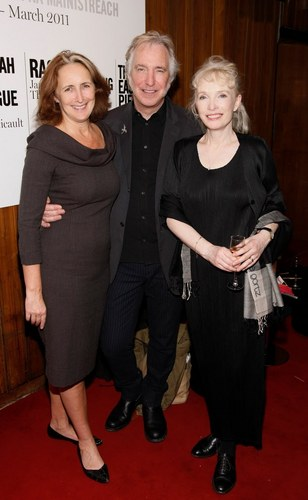 alan rickman fondo de pantalla with a business suit, a well dressed person, and a suit entitled Fiona Shaw, Alan Rickman & Lindsay Duncan - John Gabriel Borkman - Oct. 2010
