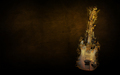 music - Flaming Guitar Wallpaper wallpaper
