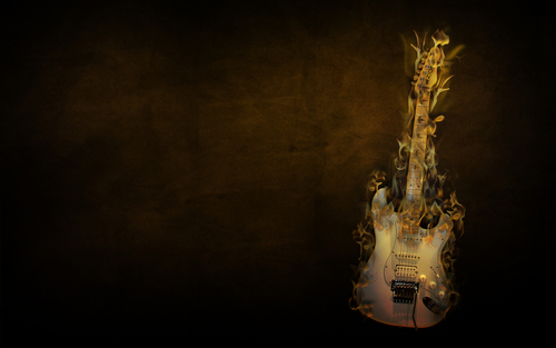 Flaming gitar wallpaper