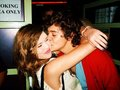 Flirty Harry Kissing 1 Of His Many Fans On The Cheek (Lucky Girl) :) x - harry-styles photo