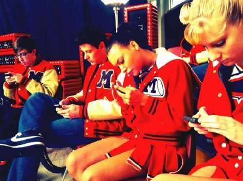 Glee {Behind the scenes}