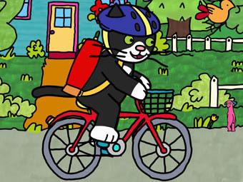 Gofrette Riding a Bike