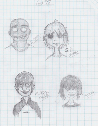Gorillaz sketches