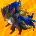 Grr get off XD - shadow-the-hedgehog photo