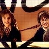 Harry and Hermione photo possibly with a portrait and anime called Harry&Hermione
