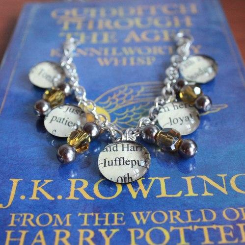 Harry Potter Text Charm Bracelets