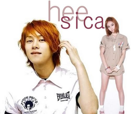 Super Generation: Super Junior & Girls' Generation fondo de pantalla containing a portrait entitled HeeSica (Heechul & Jessica)