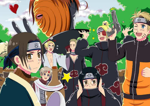 Hetalia  Naruto crossover