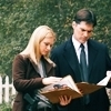Hotch & JJ photo possibly with a business suit and a judge advocate titled Hotch & JJ