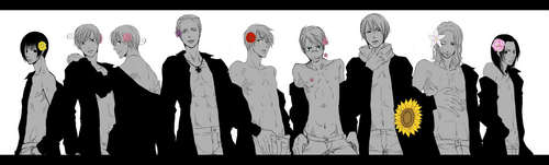 Hetalia wallpaper called Japan, Italy Bros, Germany, England, America, Russia, France, China