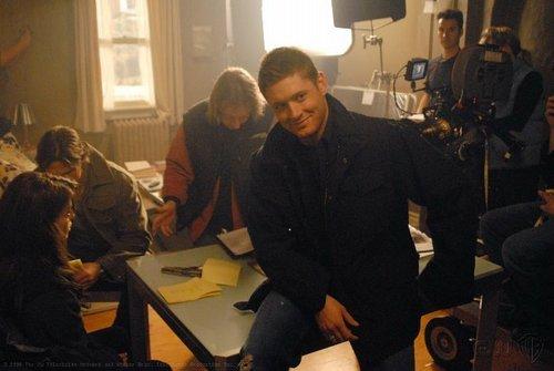 Jensen on the set