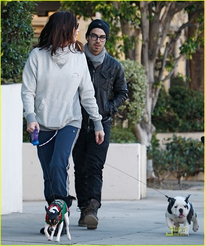 Joe Jonas & Ashley Greene: Dog Walker Duo (November 26)