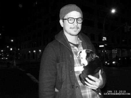 Josh With Cute Dog!