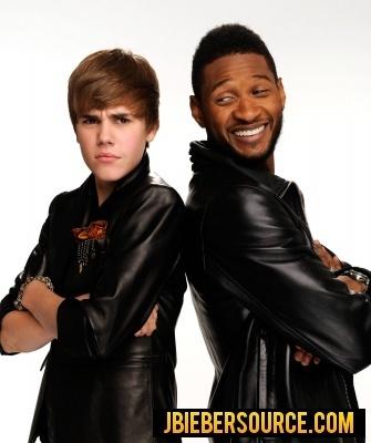 Justin and Usher-AMAs photoshoot