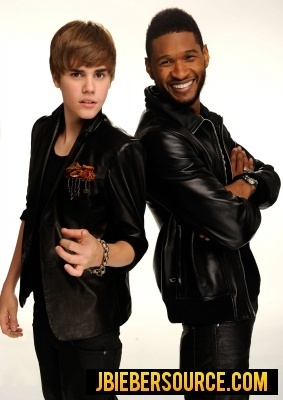 Justin and Usher-AMAs photoshoot
