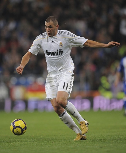 K. Benzema playing for Real Madrid