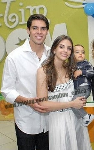Kaka,Caroline and Luca in Luca's first birthday.