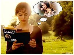 The Hunger Games wallpaper probably containing a portrait entitled Keira Knightley reading HG :)