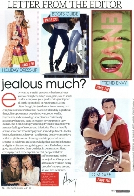 Lea and Cory Teen Vogue - Dec/Jan 2010/11