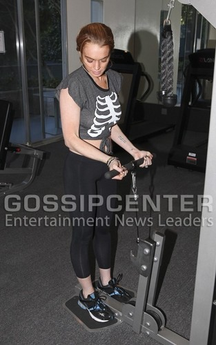 Lindsay Lohan: Thanksgiving Workout Woman
