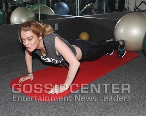Lindsay Lohan: Thanksgiving Workout Woman