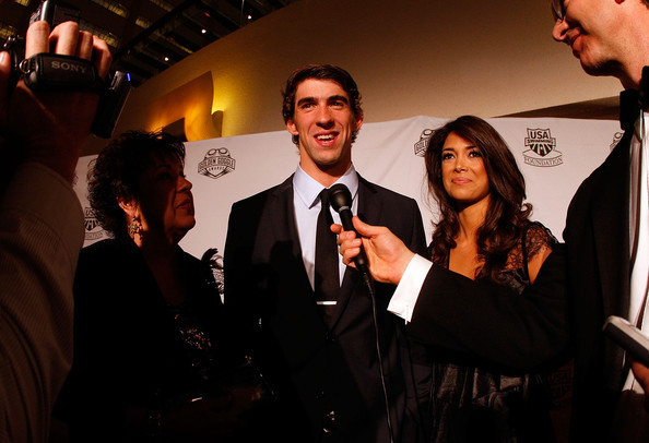 M. Phelps at Golden Goggles Awards