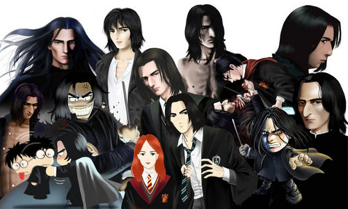 Many Faces of Snape Fanart