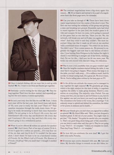 Matt LeBlanc - Entertainment Weekly (May 3rd 2002)