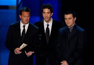 Matthew Perry, David Schwimmer, and Matt LeBlanc
