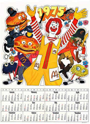 McDonaldland Calender for 1975