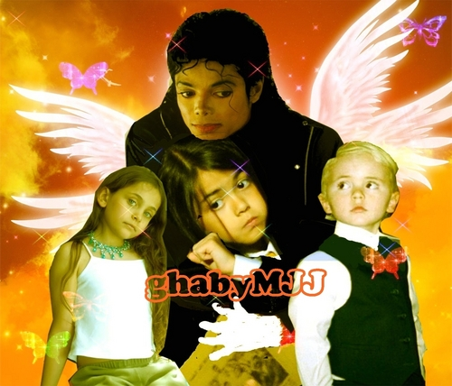 the jackson 3 achtergrond with a portrait called Michael Jackson Prince Jackson Paris Jackson Blanket Jackson