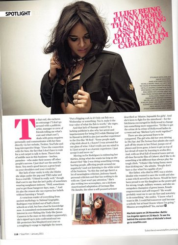 Michelle in Total Film Magazine - December 2010 [5]