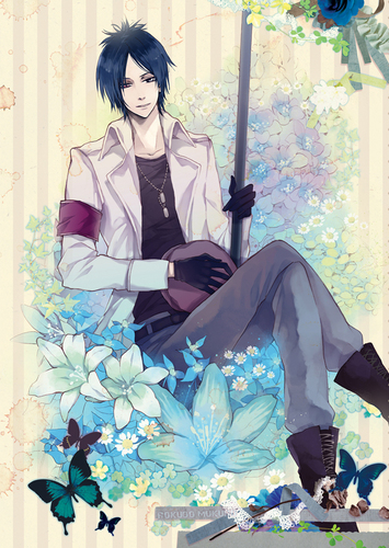 Mukuro Rokudo wallpaper probably with a parasol and a bouquet called Mukuro Rokudo