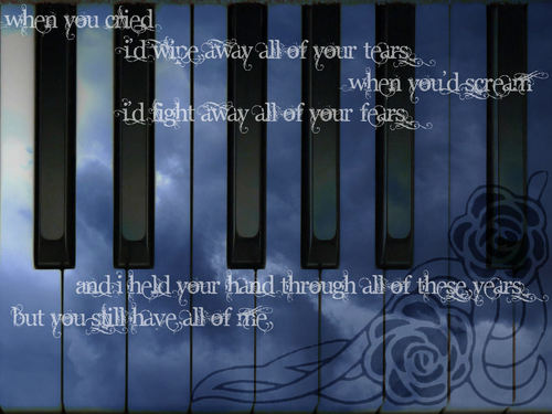 Sad Songs wallpaper titled My Immortal Wallpaper