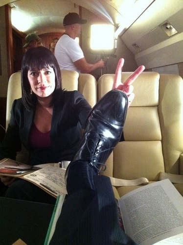 Paget having fun with Thomas' feet
