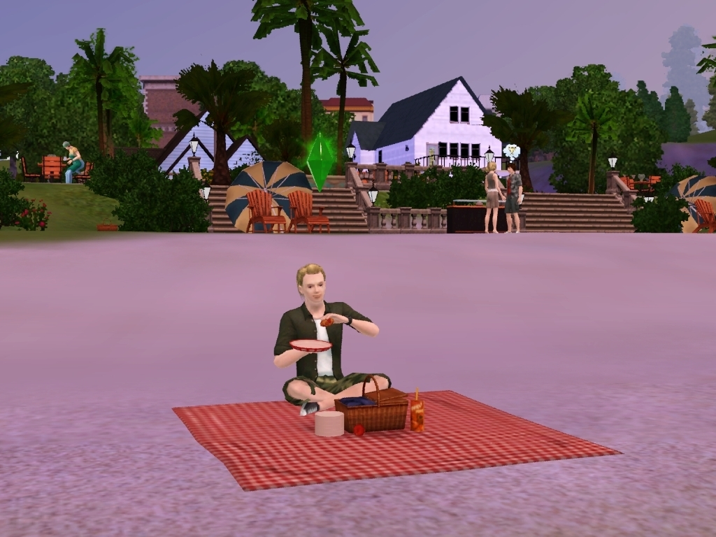 Picnic alone - the-sims-3 wallpaper