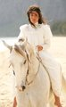Q'orianka Kilcher as Princess Kaiulani Riding a White Horse