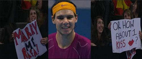 Rafa Nadal and fan-girls...