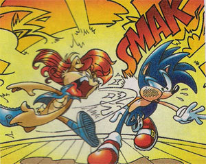 Sally slaps Sonic