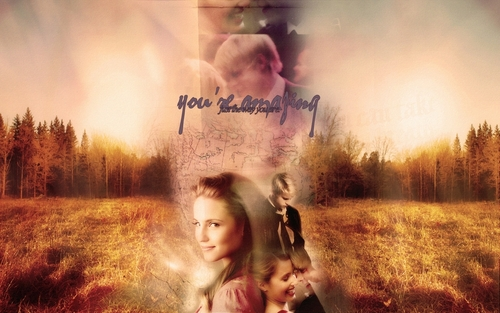 Sam and Quinn wallpaper probably with a grainfield, a rainbow, and a ponderosa titled Sam&Quinn. <3