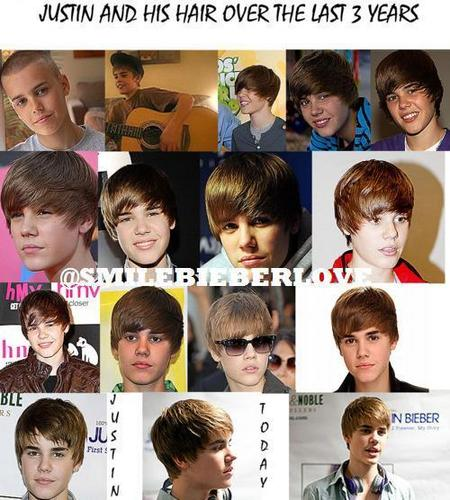 See How Justin & his Hair have Changed in the Last 3 Years